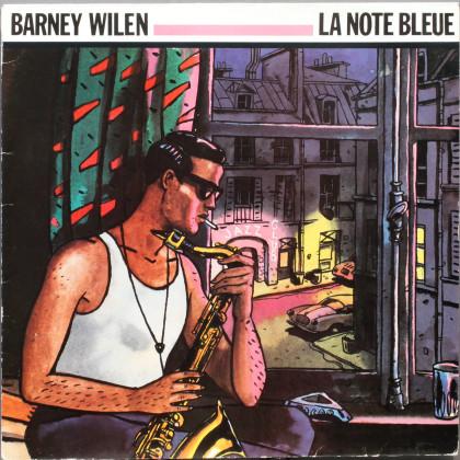 Portrait de l'artiste  avec saxophone