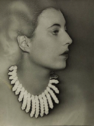 MAN RAY Model wearing necklace by Elsa Triolet, before 1932-33