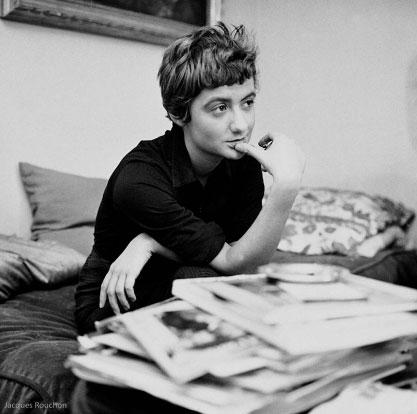 Françoise Sagan en 1958. Photo © Jacques Rouchon.
