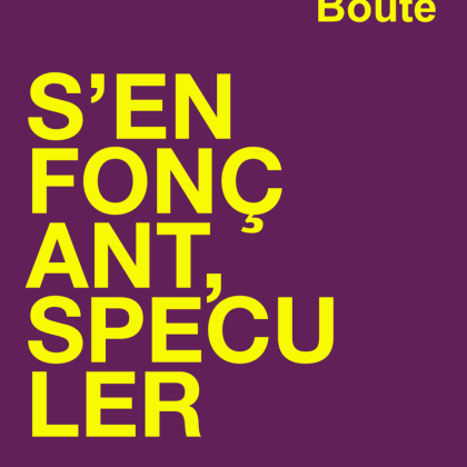 Antoine Boute S'enfonçant, Spéculer un grand éclat de rire dissonant