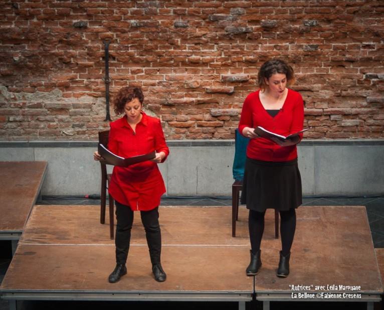 Autrices, avec Leila Marouane à La Bellone © Fabienne Cresens