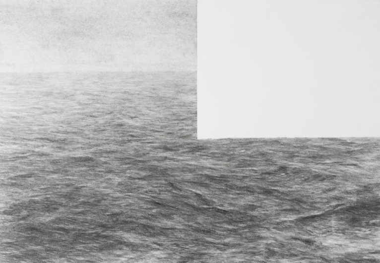 Partial view and memory/Seascape10, 32x24, 2016. © Jean-Louis Micha.