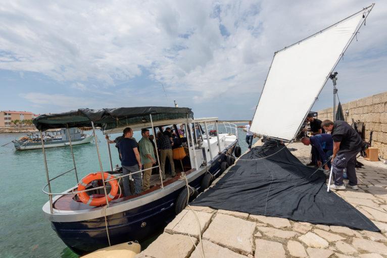 Photo du tournage de En amont du fleuve.