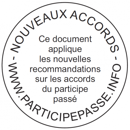 Les participes passés que je n'ai plus accordé