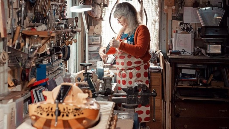 © Francesca Jones | hurdy-gurdy maker Sabina Kormylo at work