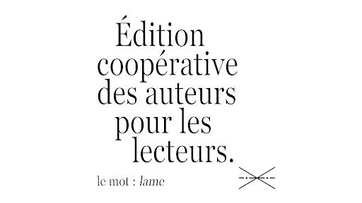 Interview des membres du collectif éditorial Le Mot : Lame « Personne n'écrit de la poésie pour la vendre »
