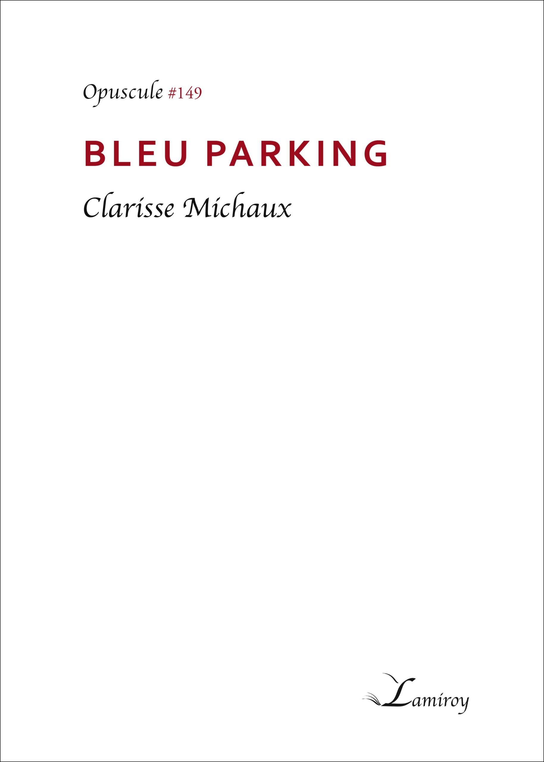 Bleu Parking Peindre les mots